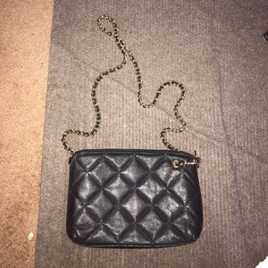 Giani Bernini gold over the shoulder black purse